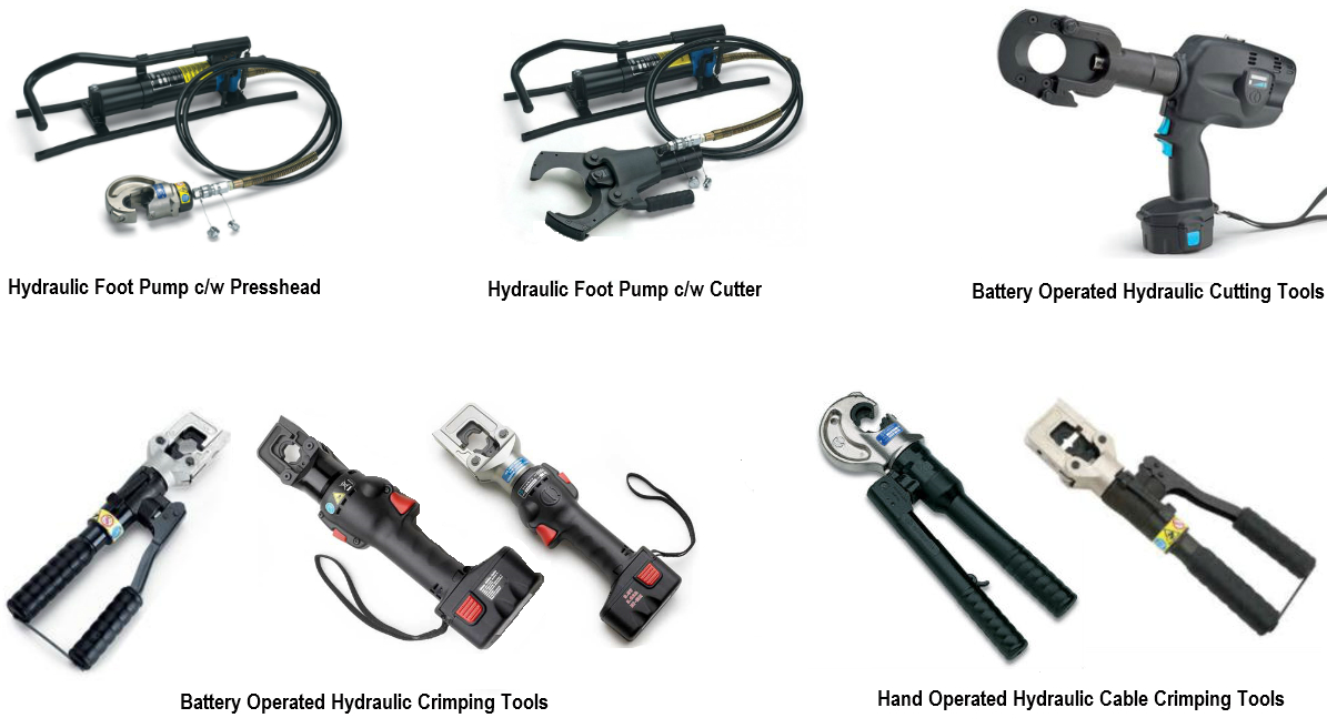 Hydraulic Cable Crimping & Cutter and Accessories